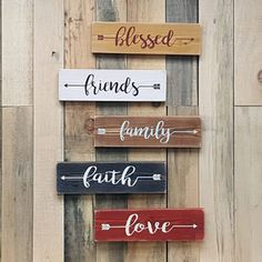 I love these arrow signs. You can choose any word you like and pick your colors and arrow direction. I love these arrow signs. You can choose any word you like and pick your colors and arrow direction. Diy Wood Signs, Rustic Wood Signs, Painted Wood Signs, Family Wood Signs, Wood Signs Sayings, Wooden Pallet Signs, Diy Pallet, Wooden House Signs, Wood Stencil Signs