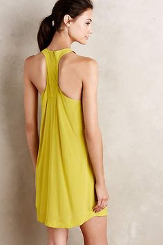 Idalia Silk Swing Dress - anthropologie.com -Love the fit, style and color