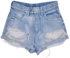Gyda ダメージデニム / Damaged Denim Shorts on ShopStyle