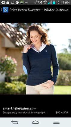 Ariat arena sweater! Very classy and in love with the elbow patches!