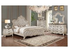 White Master Bedroom Set - Image of Bedroom and Crib Master Bedroom Set, King Bedroom Sets, Queen Bedroom, Bedroom Green, Bedroom Furniture, Furniture Design, Bedroom Decor, Cozy Bedroom, Bedroom Sets For Sale