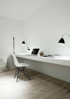 minimalistisch Büromöbel ergonomisch komplettset  tischlampen