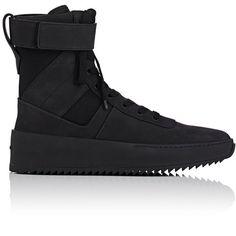Fear Of God Men's Military Nubuck Sneakers Hype Shoes, Men's Shoes, Shoe Boots, Shoe Bag, Shoes Men, Black Shoes, All Black Sneakers, High Top Sneakers, Sneakers Mode