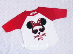 Design ~ Cool Minnie Mouse with custom name of your choice • Shirt Style ~ 3/4 Black Sleeve UNISEX Raglan • Design Colors: as shown {Colors may vary slightly due to screen resolution}  >>> Please leave wording (name) how you want it shown on the shirt when placing your order  ~~~~~~~~~~~~~~~~~~~~~~~~~~~~~~~~~~~~~~~~~~~~~~~~~~~~~~~~~~~~~~~~~~~~~~~~  ** GENERAL INFORMATION **  • High quality inks and heat transfer vinyls are used in all of the products found in my shop. • Each des...