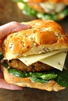 Butternut Black Bean Burger #veggieburger #foodporn #nomnom http://livedan330.com/2014/11/14/butternut-black-bean-burger/