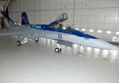 Royal Canadian Air Force 2014 display CF-18 Hornet in special scheme for 90th anniversary of the RCAF.