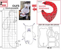 FOR SMALL I FOUND THIS .. - 1 and 2 and 3 DOUDOUS PATTERNS * * * PATTERNS TEMPLATES FESTIVAL THEME FOR CHILDREN.  http://1et2et3doudous.canalblog.com/archives/2011/06/12/21401314.html