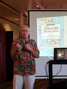 Mr. Ron Wiggins, author of Florida Authentica, speaks to the Palm Beach Business Associates over a special omelet breakfast.