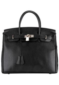 A Chic and Timeless Bag. Kate Leather Top Handle Bag Black for $149