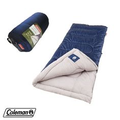 Coleman Brazos Cold-Weather Sleeping Bag 33 x 75 in. Outdoor 20F to 40F Blanket