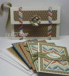 "My September Tutorial for a ""Clutch Purse and Coordinating Cards"" is available for purchase on my blog. Debbie Henderson, Debbie's Designs."