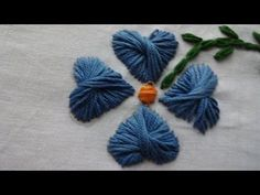 Hand Embroidery  Butterfly Stitch by Amma Arts - YouTube