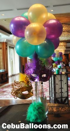 Confessions of the Obsessed: Let Masquerade Party Centerpieces, Masquerade Decorations, Mardi Gras Centerpieces, Mardi Gras Decorations, Balloon Decorations, Graduation Centerpiece, Quinceanera Centerpieces, Candle Centerpieces, Wedding Centerpieces
