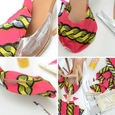 cover shoes with fabric