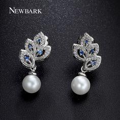 Find More Drop Earrings Information about NEWBARK Simulated Pearl Drop Earrings…