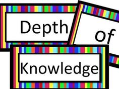 Depth of Knowledge LA Printable Poster Set Instructional Planning, Depth Of Knowledge, Math Talk, Teacher Resources, Teaching Ideas, Reading Material, Childhood Education, Teaching English, Critical Thinking