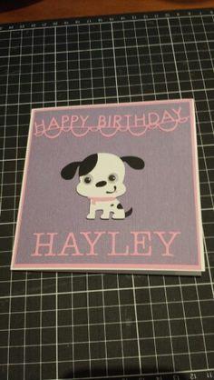 Birthday card using Create a critter dog.