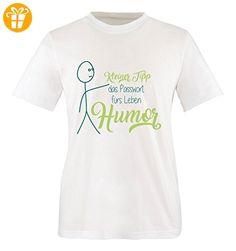 Comedy Shirts - Kleiner Tipp das Passwort fürs Leben Humor - Herren T-Shirt - Weiss / Türkis-Hellgrün Gr. XL - Shirts mit spruch (*Partner-Link)
