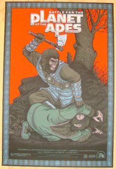 """2012 """"Battle For The Planet Of The Apes"""" - Poster by Bertmer"""