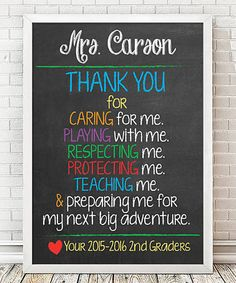 Look what I found on #zulily! 'Thank You Teacher' Personalized Print #zulilyfinds