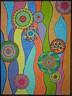 "Quilt & Color quilt, ""Worlds of Color"" by Heather Thomas"