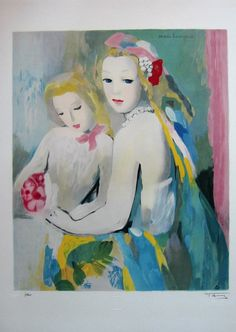 Marie LAURENCIN: Lithography: Two women