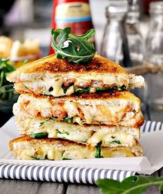 Lobster grilled cheese with gluten free bread. Making this Saturday morning with…