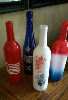 Memorial Day & 4th of July wine bottles.