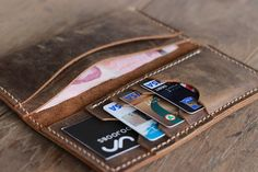 Leather Billfold Wallet - Mens Womens Wallets -- 015 - No More Folding Money