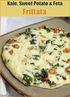 Kale, Sweet Potato & Feta Frittata: A healthy hearty high protein ...
