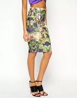 cheap china wholesale clothing pencil skirt contemporary floral print skirt