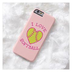 I love softball, baseball wife, iPhone 5,  6 case + Android Phones