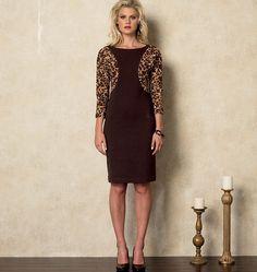 V8919, Misses' Dress