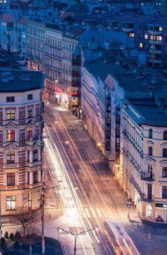 Wroclaw city centre, Poland. by Maciek Lulko
