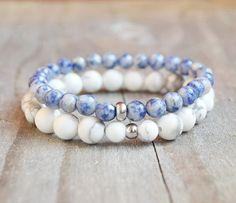 Hey, I found this really awesome Etsy listing at https://www.etsy.com/listing/286963147/set-of-2-beaded-bracelets-gemstone