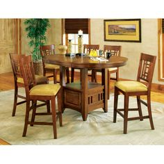 Be Ready For Your Next Gathering With The Glendale Counter Height Storage Dining Table This