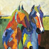 Found it at Wayfair - 'Equinus Two Square I' by Sandy Doonan Framed Painting Print on Wrapped Canvas