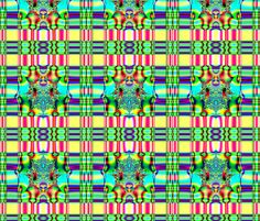 Fractal: Spring Plaid Fabric fabric by artist4god on Spoonflower - custom fabric.  Prices start at $5.00