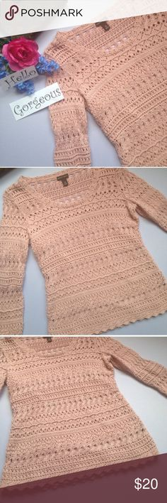 """Dana Buchman Sweater Dana Buchman Sweater. Dusty pink with attached undershirt. Flat lay measurements armpit to armpit 17"""" Dana Buchman Tops"""