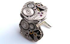 Steampunk Cufflinks  Vintage Watch Movement Cuff by Jamlincrow, £30.00