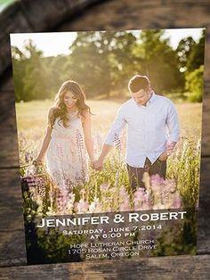romantic engagement photo wedding invitations for 2016