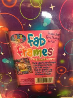 Lisa Frank cardboard picture frame-unopened by HollyWouldFind on Etsy
