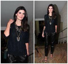 Total black lindo- Isabela Fiorentino