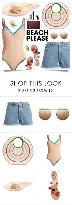 """Beach Please: Vacay Outfit"" by samra-bv ❤ liked on Polyvore featuring M.i.h Jeans, Alexander McQueen, Sophie Anderson, kiini, Filù Hats, Bobbi Brown Cosmetics, BeachPlease and vacayoutfit"