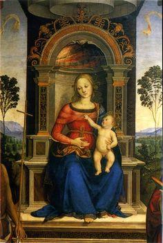Bartolomeo Caporali - Madonna col Bambino - Galleria nazionale dell'Umbria, Perugia