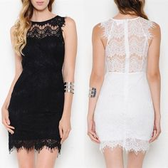 The POPPY sexy back lace dress BLACK/WHITE HPx2A dress featuring a lace overlay all throughout. Round neckline. Sleeveless. Zipper back closure. Fully lined. ️AVAILABLE IN BLACK (ONLY SIZE S & L) & WHITE (Only size S & M) . ‼️️NO ️TRADE, ️PRICE FIRM‼️ Dresses