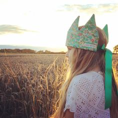 """ my little princess! #libertyprint #libertyprintcrown #betsy #betsyprint #littleredfoxdesigns #MyLiberty #fabriccrown #makeitsewcial"" - Thanks to @helenfurl"