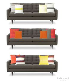 Need some color in your home?  Try these pillow combinations from Bolé Road Textiles!