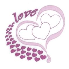 Love Hearts - 5x7 | What's New | Machine Embroidery Designs | SWAKembroidery.com Starbird Stock Designs