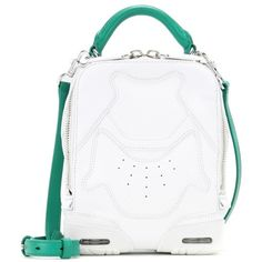 Alexander Wang Sneaker Leather Shoulder Bag ($785) ❤ liked on Polyvore featuring bags, handbags, shoulder bags, white, real leather handbags, white leather purse, alexander wang handbags, white leather shoulder bag and leather shoulder handbags